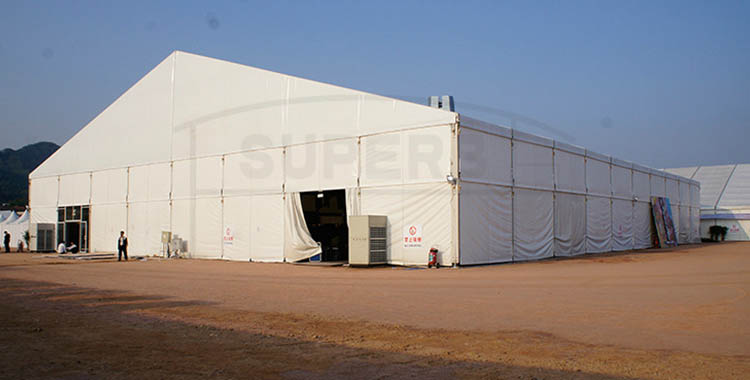 Large size PVC fabric glass door exhibitions tent- XLS series