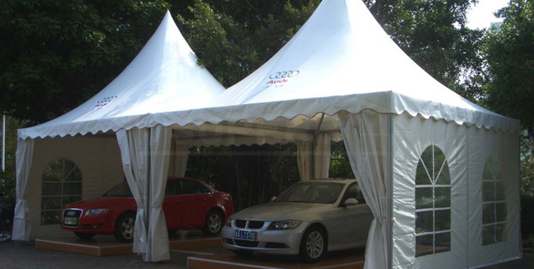 Pagoda tent for Car Show