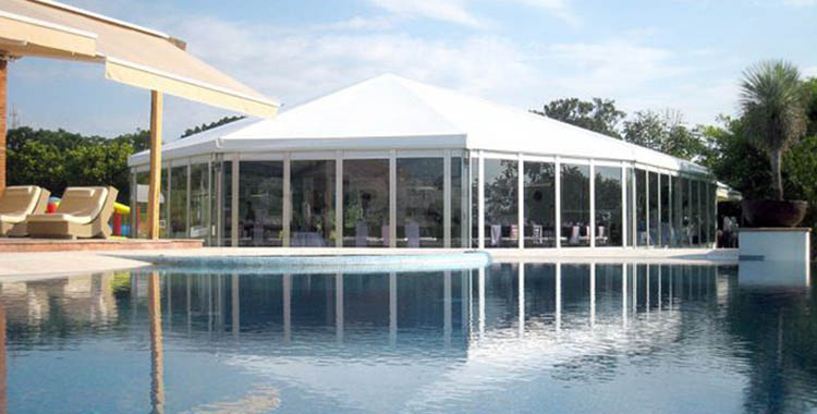 Diamond top tent with glass wall for celebration [BS Series]