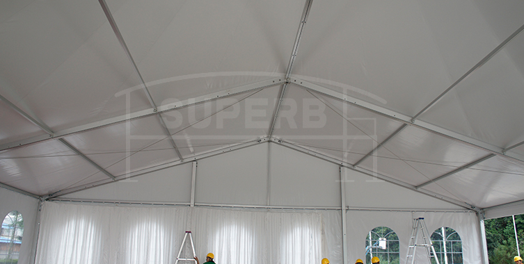 wedding tent with decoration