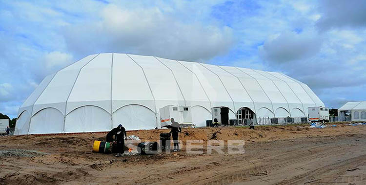 30m Large igloo structure polygon tent in Mozambique