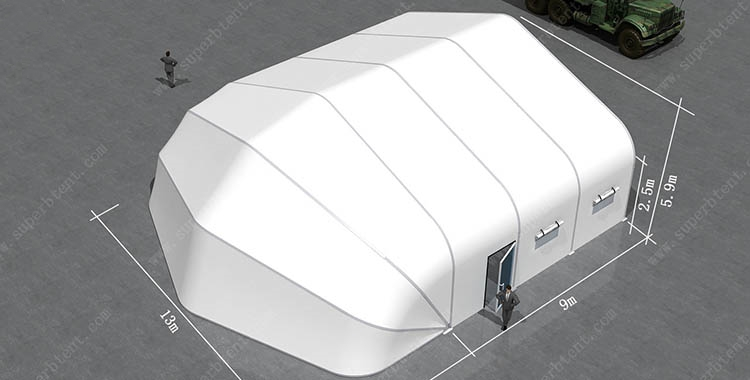 Customized aircraft hangar curve tent