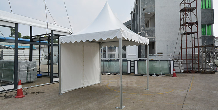 3x3m White color pagoda tent