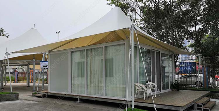 Custom made european single peak hotel tent