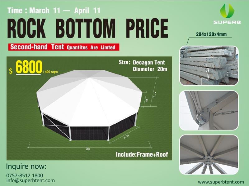 Decagonal Promotion Tent