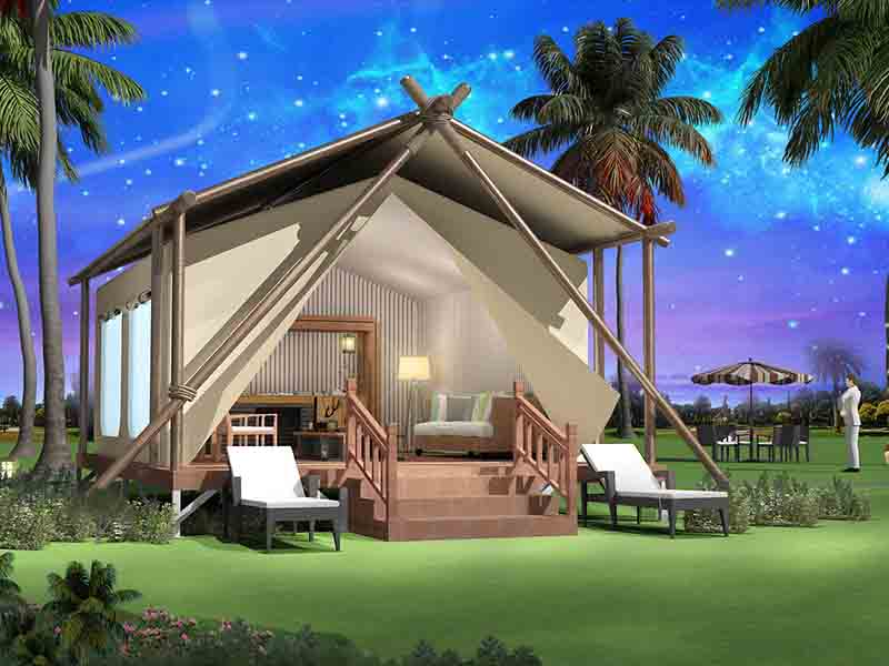 Superb Tent 's 5 star hotel tents, give you an unexpected wild luxury life