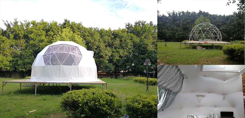 Transparent Geodome Tent